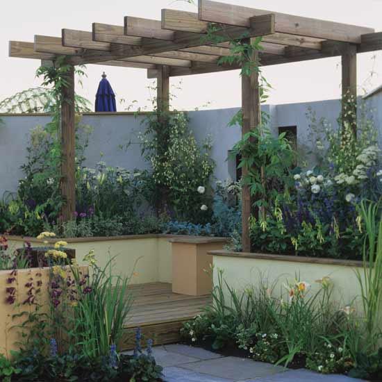 Shed plan garden decking ideas photos for Garden ideas decking designs