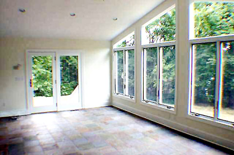 Sunroom door epic 8 ft double sliding door for Large windows for sunroom